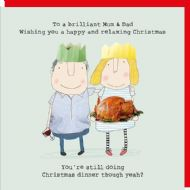 Rosie Made a Thing 'Brilliant Mum & Dad' Christmas Card